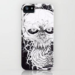 Horror Skull Art Print iPhone Case
