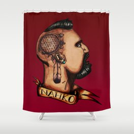 Nahko Bear Fan Made Art Shower Curtain