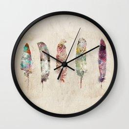 pop art feathers Wall Clock