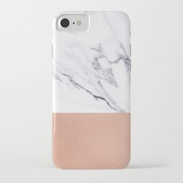 Marble Rose Gold Luxury iPhone Case and Throw Pillow Design iPhone Case