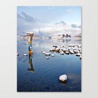 jessica lange Canvas Prints featuring Ormen Lange by C. Mario del Rio