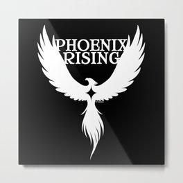 PHOENIX RISING white with star center Metal Print