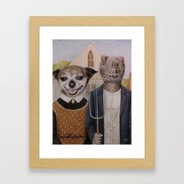 pets portrait Framed Art Print