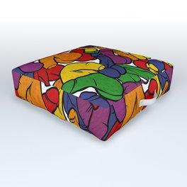 Schlong Song in Rainbow, All the Penis! Outdoor Floor Cushion