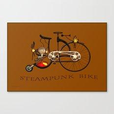 Steampunk bike Canvas Print