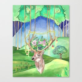 Magic Forest Friend Canvas Print