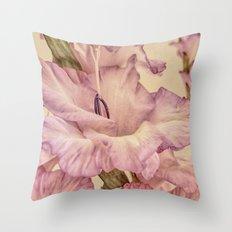 Shabby chic gladioli Throw Pillow