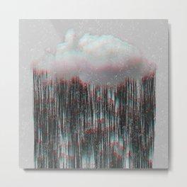 Heavy rain mode glitch Metal Print