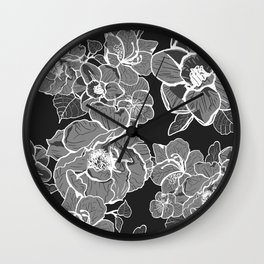 Brooklyn Botanic Garden, Black and White Wall Clock