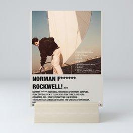 Norman Fucking Rockwell Album Poster Mini Art Print