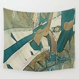Echo with Exclusion - Modern Abstract Art Wall Tapestry
