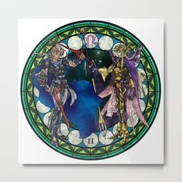 Final Fantasy II Stained Glass Drawing Metal Print