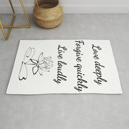 Saletta Home Decor: Love deeply, Forgive quickly, Live loudly Rug