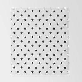 Black and white Star Pattern Throw Blanket