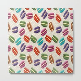 Macaron macaroon stylized Metal Print