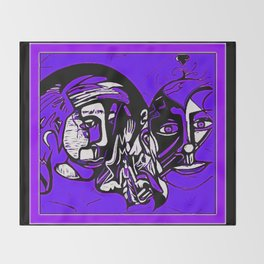 For Travis~His Purple dream Throw Blanket