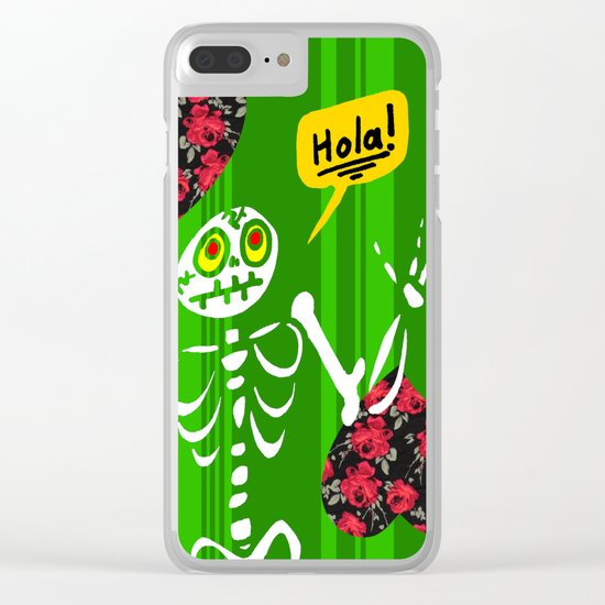 Hello Skeleton Clear iPhone Case