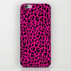 Neon Pink Leopard iPhone & iPod Skin
