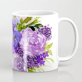 Sweet Purple Watercolor Bouquet Coffee Mug