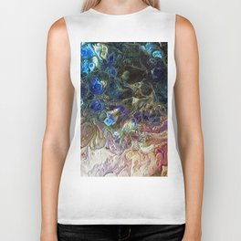 Currents 1 (Abstract Dachshund) Biker Tank