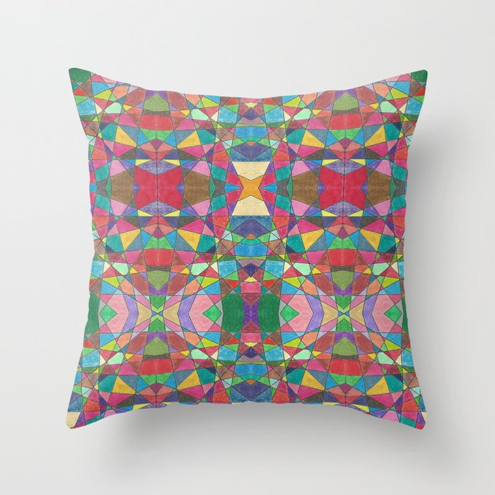 Criss Cross Colorful Throw Pillow