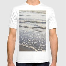 Pacific Waves at Sunset Mens Fitted Tee MEDIUM White