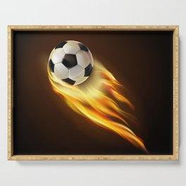 Soccer bal Serving Tray