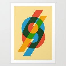 six to nine Art Print