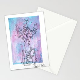 tombstone angel Stationery Cards