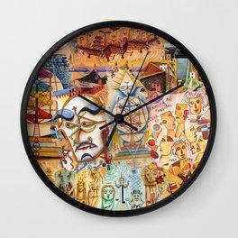 Xul Solar collage Wall Clock