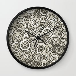 Grey Circle Art Wall Clock