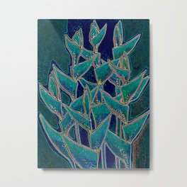 Heliconia Rostrata / Lobster Claw, twilight version Metal Print