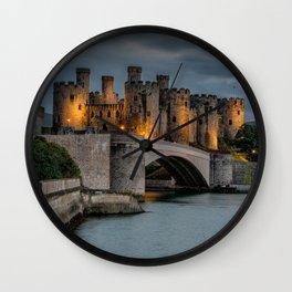 Conwy Castle by Lamplight Wall Clock