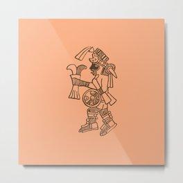Aztec Warrior Metal Print