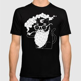 Whiskers & Pipe (Version 1) T-shirt