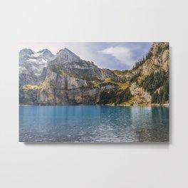Oeschinen Lake II Metal Print