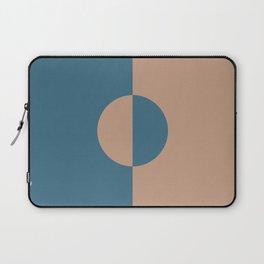 Brown Dark Blue Minimal Half Circle Design 2021 Color of the Year Canyon Dusk & Bering Wave Laptop Sleeve