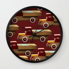 Vintage wooden toy truck #decor #society6 #buyart Wall Clock