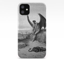 Lucifer, the fallen angel - Gustave Dore iPhone Case