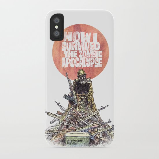 How I Survived The Zombie Apocalypse iPhone Case