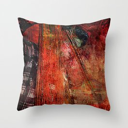Sicilian Fisherman (This Artwork is a collaboration with the talented artist design  Ganech Joe) Throw Pillow