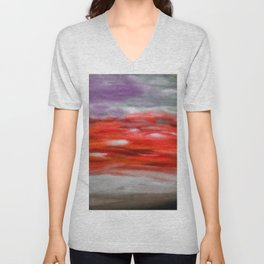 Serenity Abstract Landscape 3 Unisex V-Neck