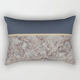 Blue Meets Brown Gray Concrete #1 #decor #art #society6 Rectangular Pillow