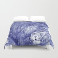 lions Duvet Covers featuring Lions by Rafael Augusto