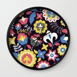 Flowers motives Wall Clock