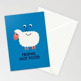 Friend, Not Food Stationery Cards