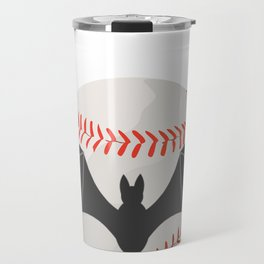 Halloween Baseball Bat Funny Baseball Gift Travel Mug