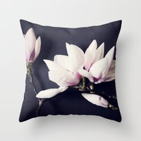 magnolia Throw Pillows featuring Magnolia by Sirka H.
