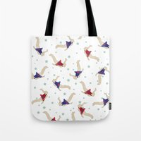 backpack Tote Bags featuring Rocket Backpack by Ottilie Baker