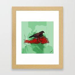 Tangled Crow Framed Art Print